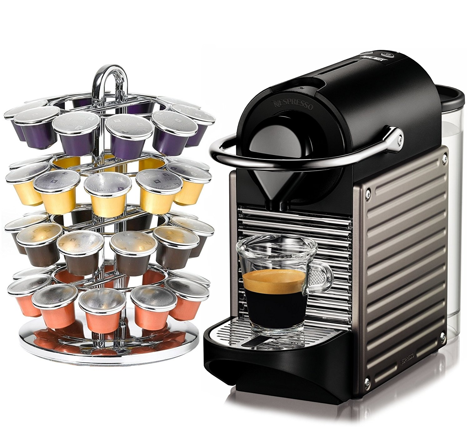 Nespresso Pixie C60 Electric Titan Espresso Machine