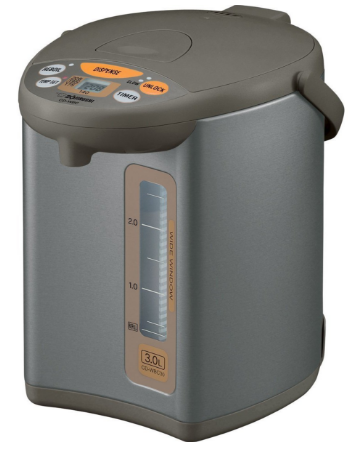 Zojirushi CD-WBC30-TS Micom 3-Liter Water Boiler and Warmer, Silver Brown + Knox 16 oz. Mug