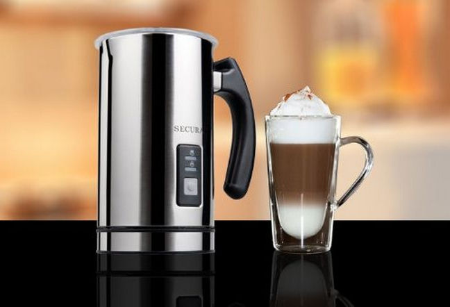 how to use a milk frother to make a latte