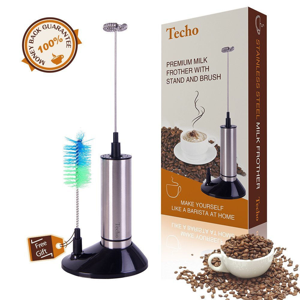 Best Stainless Steel Milk Frother Wand with Stand