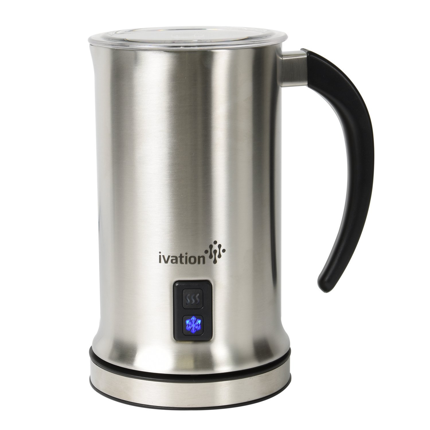 Ivation Cordless Automatic Electric Milk Frother & Warmer, Steamer, Mixer, Cappuccino Maker